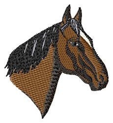 Standardbred Head embroidery design