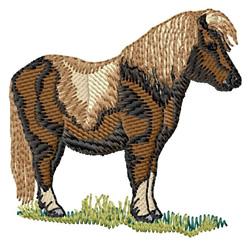 Shetland Pony embroidery design