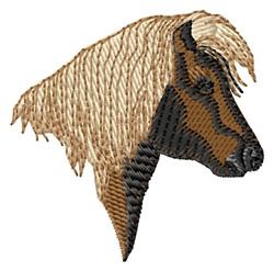 Shetland Pony Head embroidery design