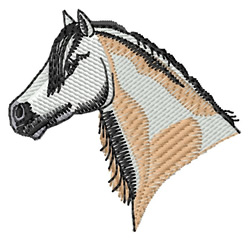 Welsh Pony Head embroidery design
