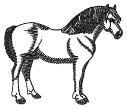 Welsh Pony #2 Silhouette embroidery design