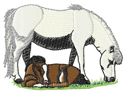 Miniature Ponies embroidery design