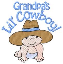 Grandpas Lil Cowboy embroidery design
