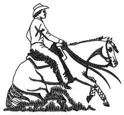 Cowboy & Horse embroidery design