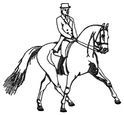Dressage embroidery design