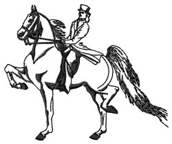 Female Saddlebred embroidery design