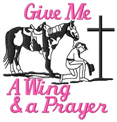 Wing And Prayer embroidery design