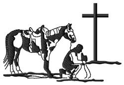 Praying Cowboy embroidery design