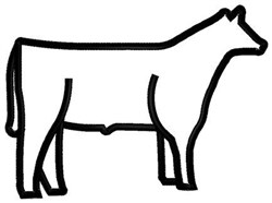Steer Outline embroidery design