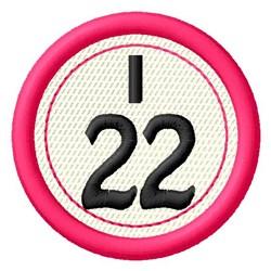 Bingo I22 embroidery design