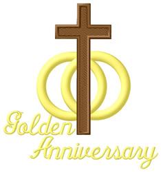 Golden Anniversary embroidery design