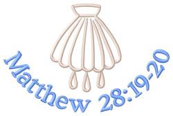 Matthew 28:19-20 embroidery design