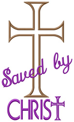 Saved by Christ embroidery design