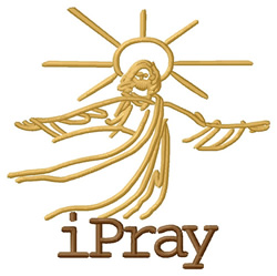 iPray embroidery design