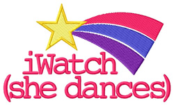 iWatch (She Dances) embroidery design