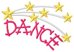 Dance 3 embroidery design