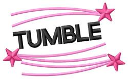 Tumble embroidery design