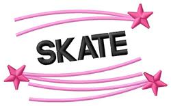 Skate embroidery design