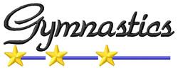 Gymnastics 1 embroidery design