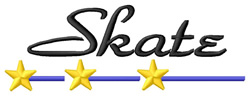 Skate 1 embroidery design
