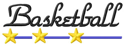 Basketball 1 embroidery design