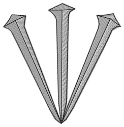 Three Nails embroidery design