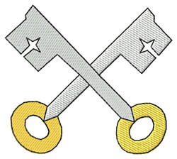 Crossed Keys embroidery design