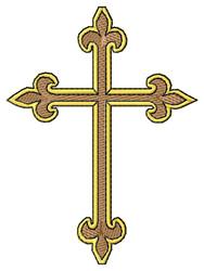 Ornamental Cross embroidery design