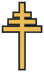 Papal Cross embroidery design