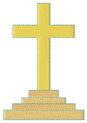 Graded Cross embroidery design
