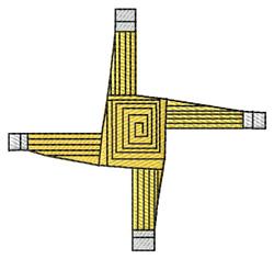 St. Brigids Cross embroidery design