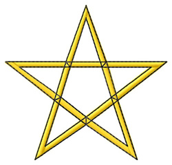 Five Pointed Star embroidery design