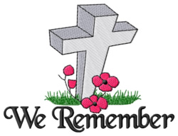 We Remember embroidery design