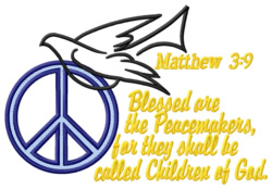 Peacemakers embroidery design