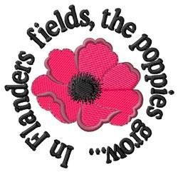 In Flanders Fields embroidery design