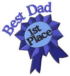 Best Dad embroidery design