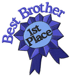 Best Brother embroidery design
