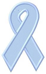 Light Blue Ribbon embroidery design