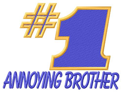 Annoying Brother embroidery design