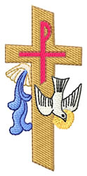 Baptism Logo embroidery design