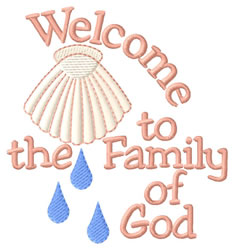 Family Of God Shell embroidery design