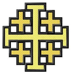 Jerusalem Cross embroidery design