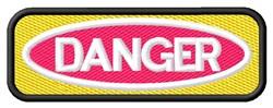 Danger Sign embroidery design