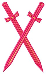 Crossed Swords embroidery design