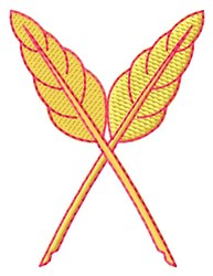 Crossed Leaves embroidery design