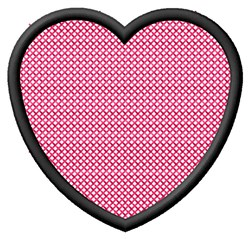 Outlined Heart embroidery design
