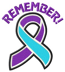Remember! embroidery design