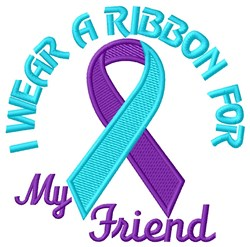 Ribbon for Friend embroidery design