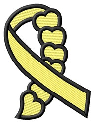 Suicide Hearts Ribbon embroidery design