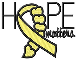Hope Matters embroidery design